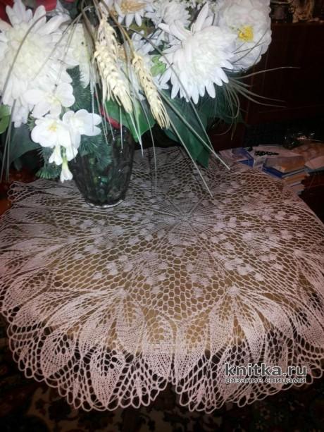 3 салфетки спицами. Работы Людмилы Архиповой. Вязание спицами.