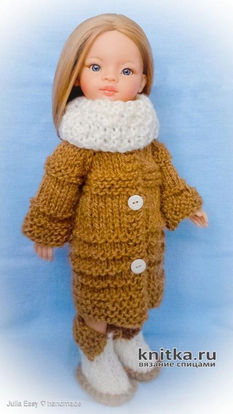 Теплый комплект для куклы Paola Reina. Работа Julia Easy. Вязание спицами.