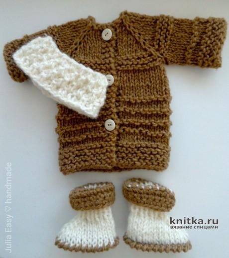 Теплый комплект для куклы Paola Reina. Работа Julia Easy вязание и схемы вязания