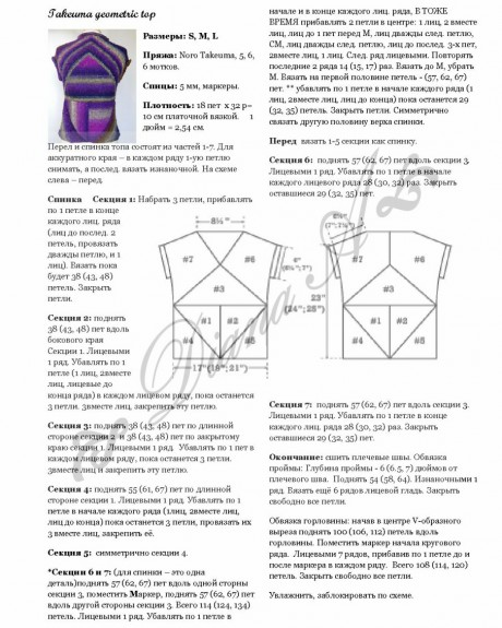Вязание безрукавки с геометрическим узором
