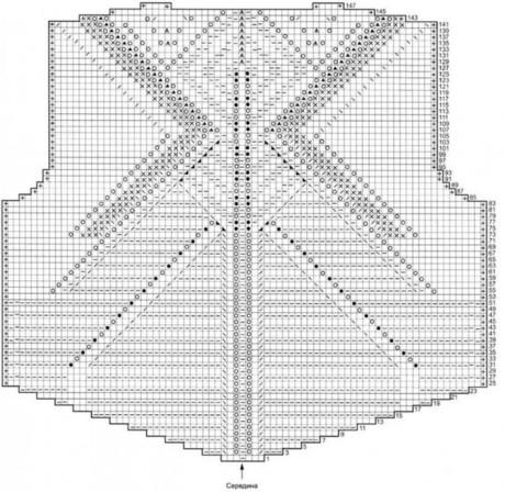 Женский пуловер спицами 6
