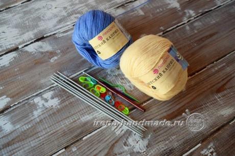 Для вязания варежек с индийским клином вам понадобятся: