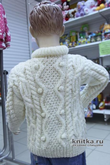 Красивый вязанный жакет для мальчика спицами. Описание и видео-урок вязание и схемы вязания