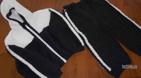 Спортивный костюм для мальчика спицами. Работа Nataliya вязание и схемы вязания