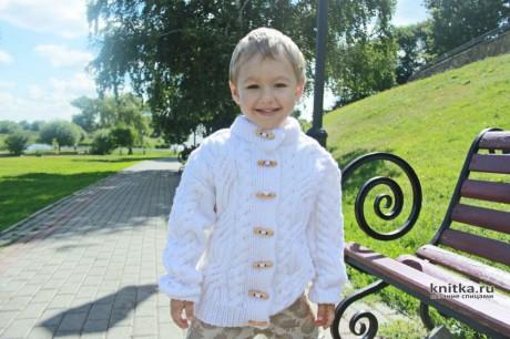 Жакет с косами для мальчика 6 лет, описание и видео-урок вязание и схемы вязания