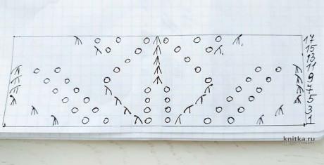 Женский топ ажурный с узором листья. Работа Светланы Лосевой вязание и схемы вязания