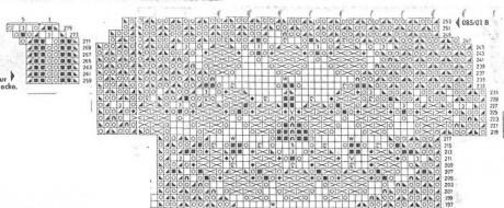 Схема вязания скатерти спицами