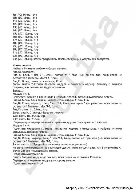 Схемы вязания косынки и описание