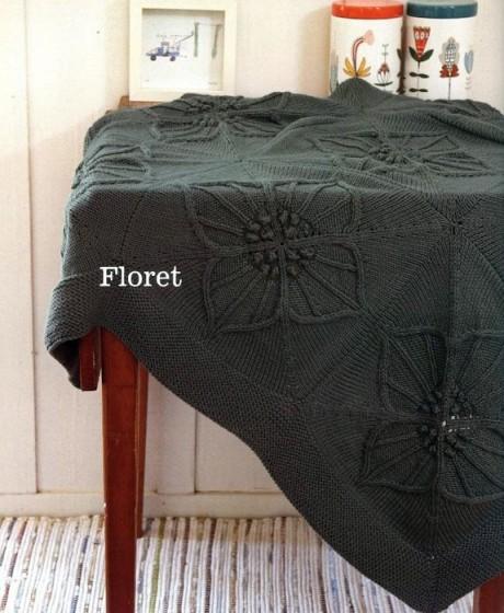 Плед спицами Floret