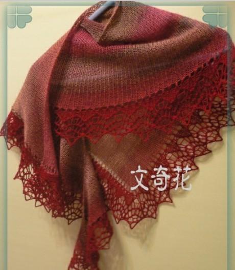 Вязание спицами бактуса – косынки Lacy Katy