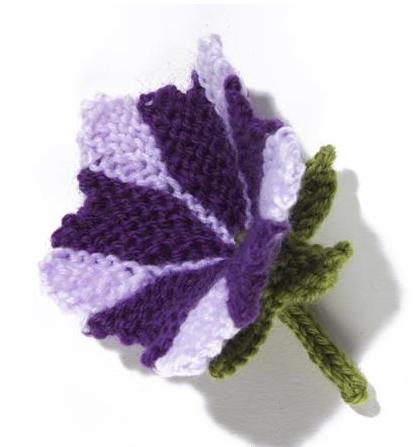 Цветок петунья спицами