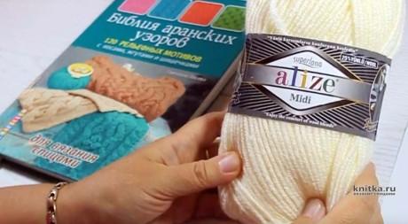 Красивый шарф с аранским узором от Светланы Лосевой вязание и схемы вязания