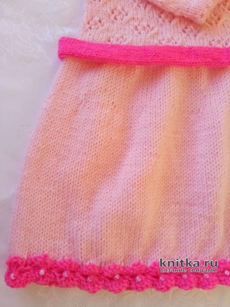 Платье для девочки связано спицами. Работа Ольги вязание и схемы вязания
