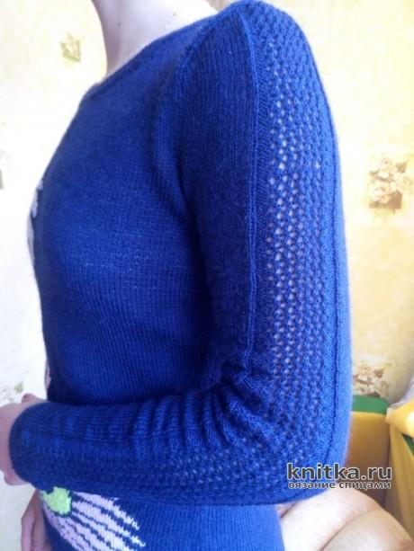 Джемпер для подростка спицами. Работа Ольги вязание и схемы вязания