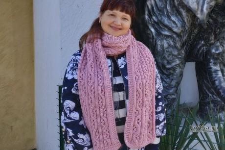 Описание и видео-урок по вязанию шарфа спицами от Светланы Лосевой вязание и схемы вязания