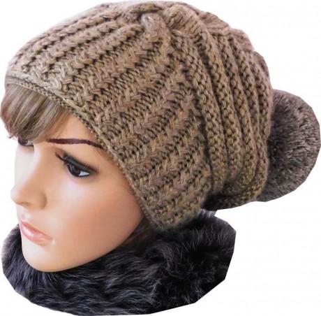 Зимняя шапка по мотивам известного дизайнера Negin Mirsalehi, видео-урок. Вязание спицами.