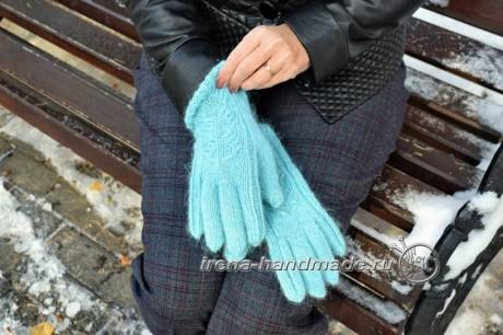 Как связать перчатки спицами, пошаговая инструкция. Вязание спицами.