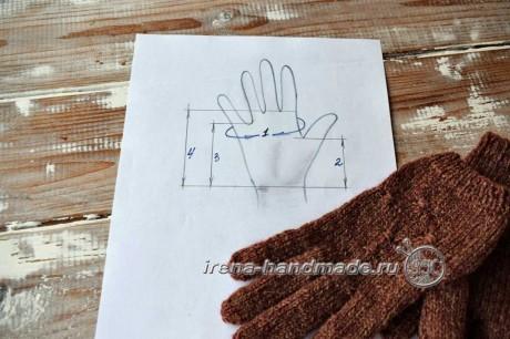Как связать перчатки спицами, пошаговое описание