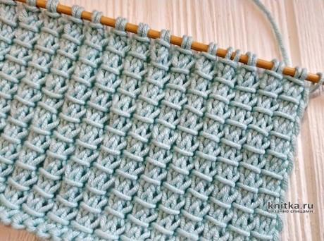 ПРОСТОЙ и ИНТЕРЕСНЫЙ узор спицами, описание и видео-урок вязание и схемы вязания
