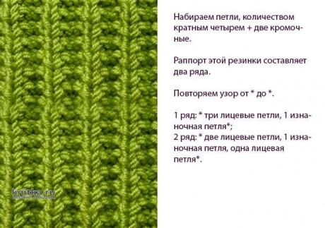 Шапка и манишка спицами. Работы Ольги вязание и схемы вязания
