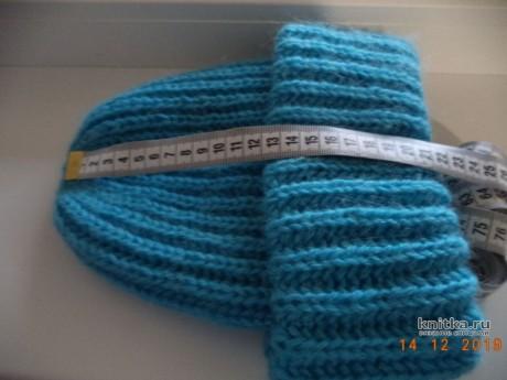 Шапка таккори связана пышной резинкой. Работа Анны вязание и схемы вязания