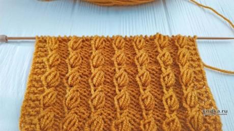 Узор спицами Шишечки, описание и видео-урок вязание и схемы вязания