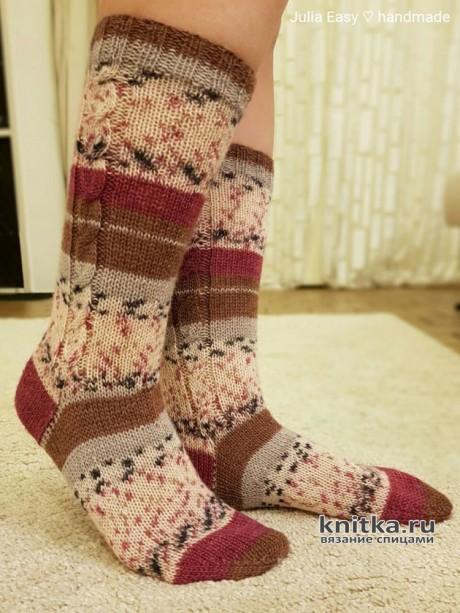 Женские носки спицами из носочной пряжи Kartopu. Работа Julia Easy вязание и схемы вязания