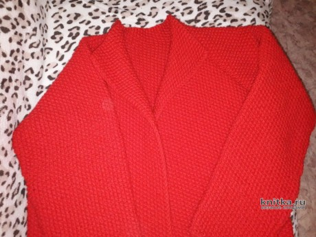 Женский кардиган спицами. Работа Ольги вязание и схемы вязания