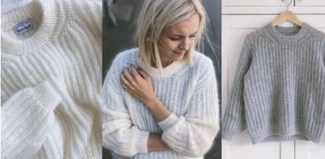 Как связать свитер September английской резинкой спицами