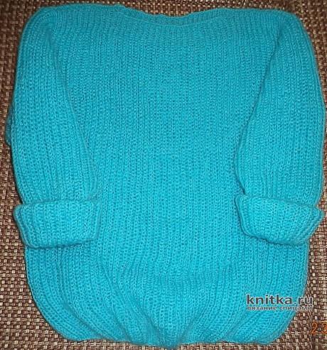 Джемпер спицами английской резинкой. Работа Анны вязание и схемы вязания