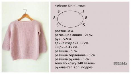 Экспресс МК женский джемпер английской резинкой. Работа Анаит вязание и схемы вязания