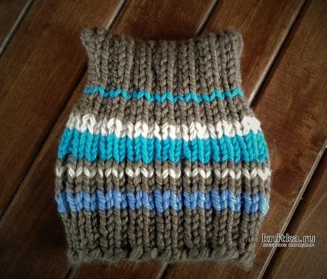 КОТОШАПКА спицами за 1 ЧАС! Работа essa.handmade. Вязание спицами.
