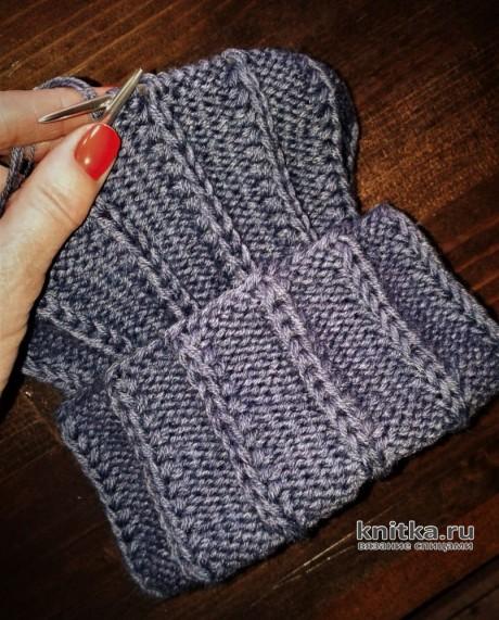 МУЖСКАЯ ШАПКА на круговых спицах. Работа essa.handmade вязание и схемы вязания
