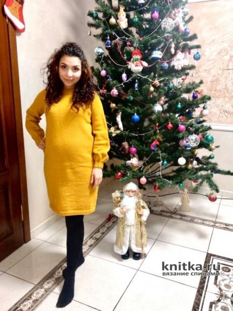 Платье спицами для беременных Мандаринка. Работа Анаит вязание и схемы вязания