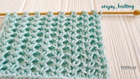 Узор спицами Ажурные колоски. Описание и видео-урок вязание и схемы вязания