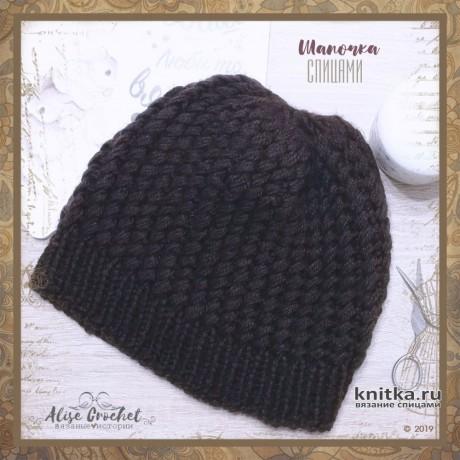 Женская шапка и манишка спицами. Работы Alise Crochet вязание и схемы вязания