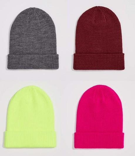яркие шапки - бини