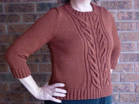 Женский свитер спицами - Wishbone by Norah Gaughan. Вязание спицами.