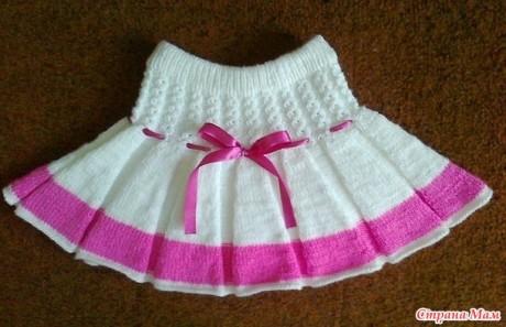 Как связать юбку для девочки спицами. Вязание спицами.