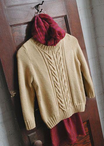 Женский свитер спицами - Wishbone by Norah Gaughan 0