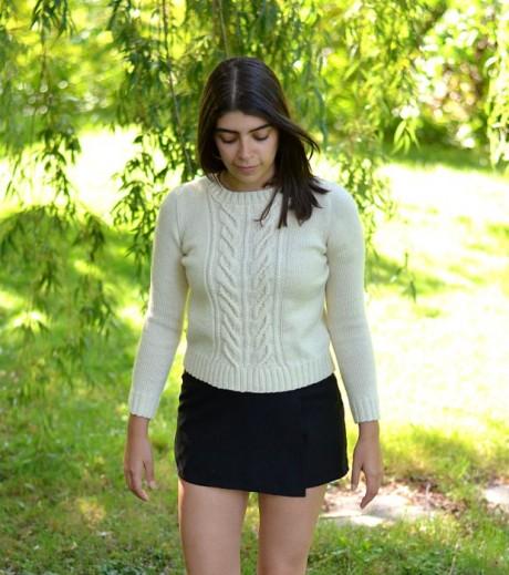 Женский свитер спицами - Wishbone by Norah Gaughan 5