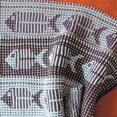 Полотенца, связанные спицами: