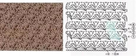 схема для вязания полотенца крючком