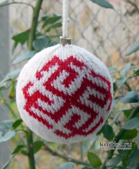 Ёлочный шарик своими руками. Работа Myrka_FM вязание и схемы вязания