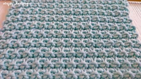 Простой Вафельный узор спицами, описание и видео-урок вязание и схемы вязания