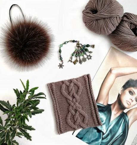 Классная коса - УЗОР для шапки, шарфа или варежек. Вязание спицами. 0n