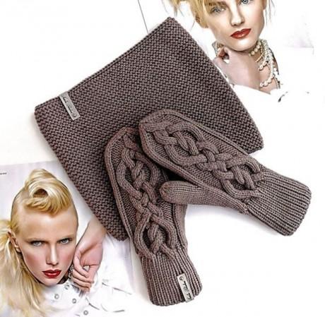 Классная коса - УЗОР для шапки, шарфа или варежек