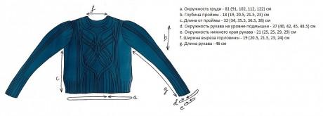 Схема вязания джемпера Соловей