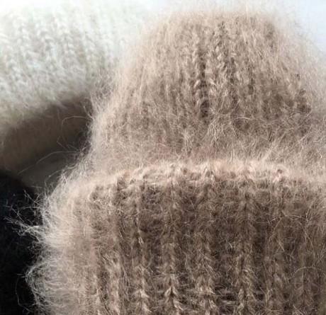 Как связать шапку из ангоры спицами