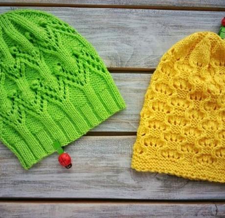 Ажурная шапочка спицами для девочки